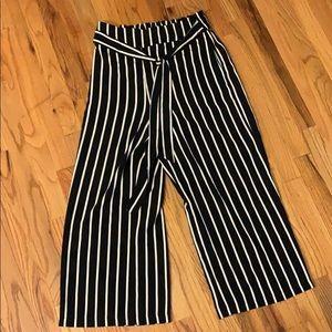 Pants - Striped Flowy Pants